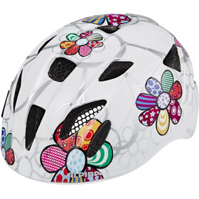 Alpina Ximo Flash Casco Niños, white flower